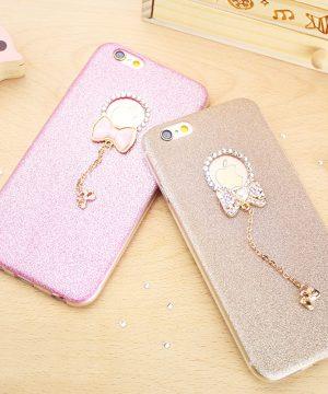 Silikónový obal so šperkom na iPhone 7 / 7S - mašľa