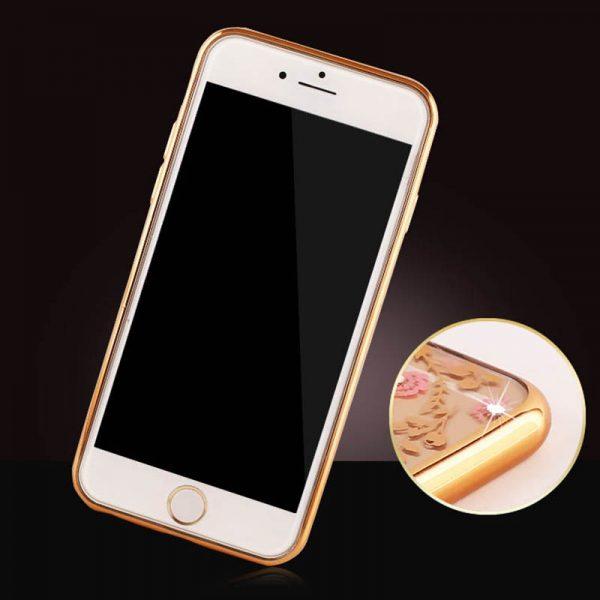 Silikónový obal so šperkom na iPhone 6 / 6S - kvet s prsteňom