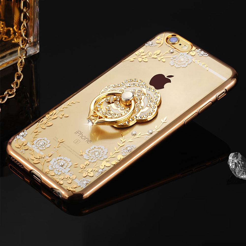 Silikónový obal so šperkom na iPhone 6   6S - kvet s prsteňom ... 6040746c39d
