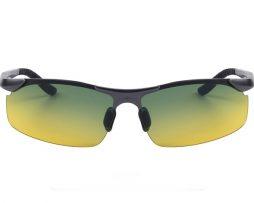 Moderné kvalitné okuliare pre šoférov s tmavo šedým rámikom - tieňované