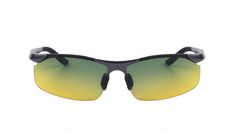 Moderné kvalitné okuliare pre šoférov s tmavo šedým rámikom - tieňované 71fa43a9bd7