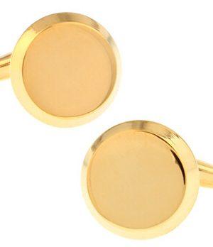 Decentné manžetové gombíky v zlatej farbe
