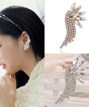 Luxusné svadobné náušnice s kryštálmi