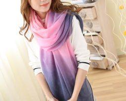 Elegantný šál vo fialovo - ružovej farbe