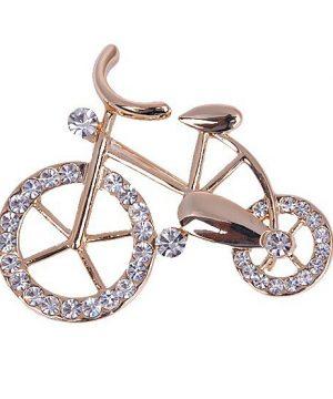 Roztomilá brošňa na šaty či šál v tvare bicykla