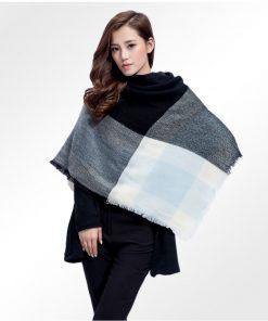 Veľký ručne tkaný kašmírový a bavlnený šál - model 02
