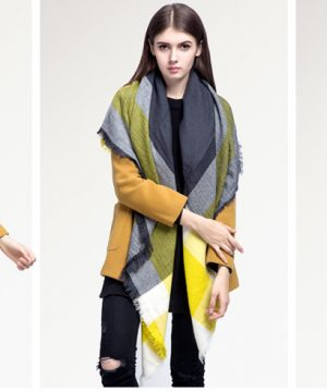 Veľký ručne tkaný kašmírový a bavlnený šál - model 01