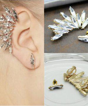 Luxusná svadobná náušnica s kryštálmi