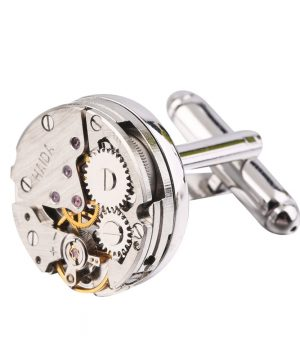 Prepracované manžetové gombíky s mechanizmom hodiniek