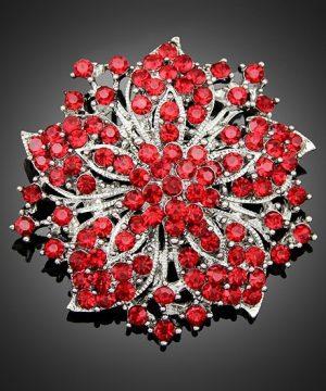 Brošňa na šaty v tvare vintage kvetiny
