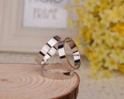 Prsteň na šatku – Trojprstenec - strieborný