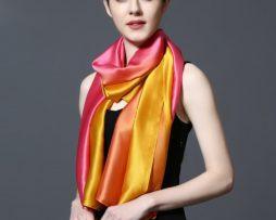 Hodvábny šál v dúhových farbách 185 x 91 cm - art_03
