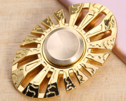 Anti-stress hand spinner - Aztec gold