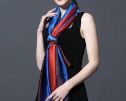 Hodvábny šál v dúhových farbách 185 x 91 cm - art_02