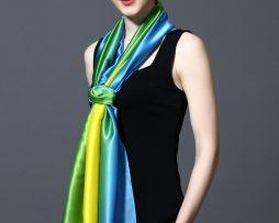 Hodvábny šál v dúhových farbách 185 x 91 cm - art_01