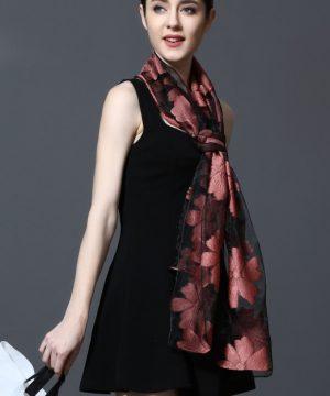 Kvalitný šál z hodvábu a viskózy 185 x 70 cm - rôzne farby