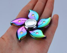 Anti-stress hand spinner - metal flower