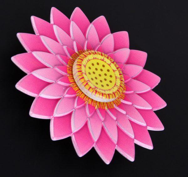 Anti-stress fidget spinner - Pink flower