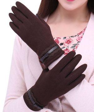 1e06c1f7bc Luxusné dámske rukavice z bavlny na ovládanie telefónu · Luxusné a ...