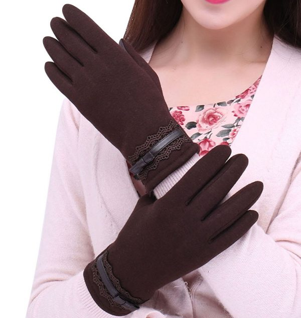 Luxusné dámske rukavice z bavlny na ovládanie telefónu