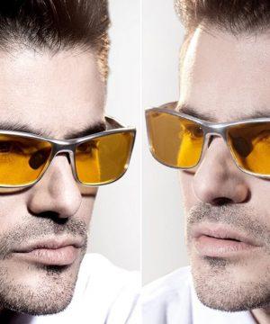 Polarizované okuliare pre šoférov so strieborným rámikom
