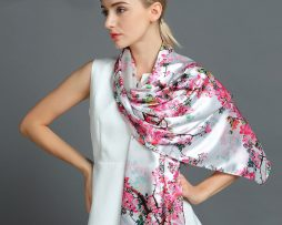 Luxusný hodvábny šál rozmerov 160 x 80 cm - Spring