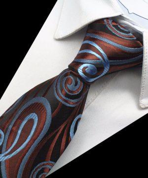 Kravatový set z hodvábu - viazanka + manžety + vreckovka - vzor03