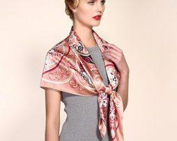 Veľká luxusná ženská hodvábna šatka - 106 x 106 cm