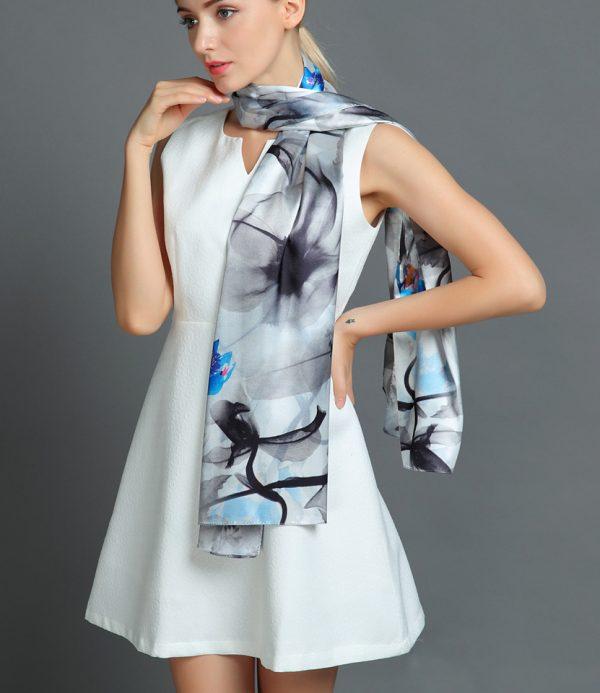 Luxusný hodvábny šál rozmerov 160 x 80 cm - Mystique