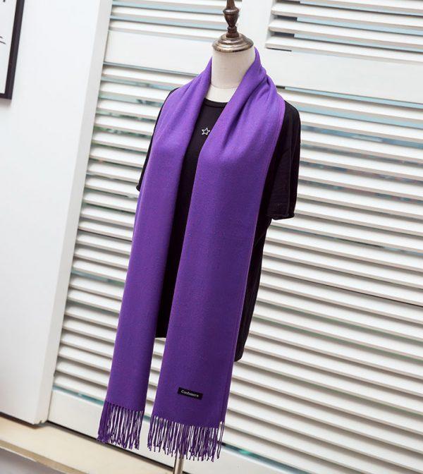 Kašmírový zimný šál v rôznych farbách pre dámy aj pánov
