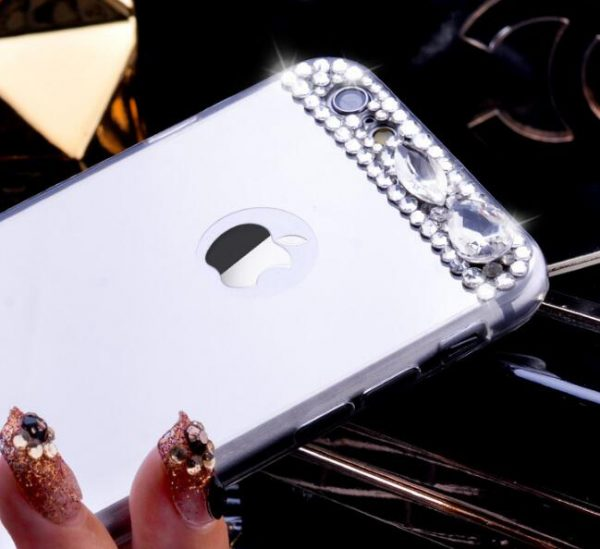 Kryštálový obal so zrkadlom na iPhone 8 , iPhone 8 Plus a iPhone X