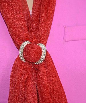 Luxusná brošňa v tvare motýlika v ružovo zlatej farbe