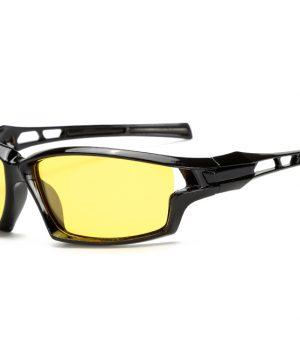 Štýlové polarizované okuliare pre šoférov - čierne lesklé