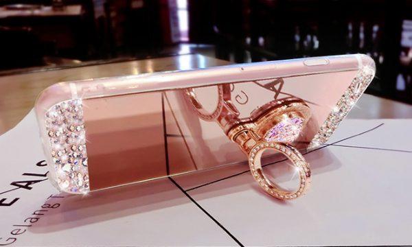 Luxusný obal s kryštálmi na iPhone 8 , iPhone 8 Plus a iPhone X