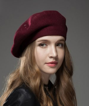 Dámska baretka / dámsky baret z kašmíru- rôzne farby