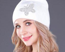 Dámska čiapka s ušami z flanelu vo viacerých farbách