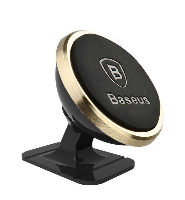 360 stupňový univerzálny magnetický stojan do auta BASEUS, zlatá farba