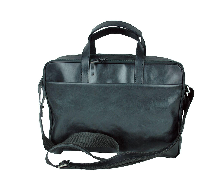 46e8f53636 Luxusná kožená taška na notebook v čiernej farbe č.8367 · Luxusné a ...