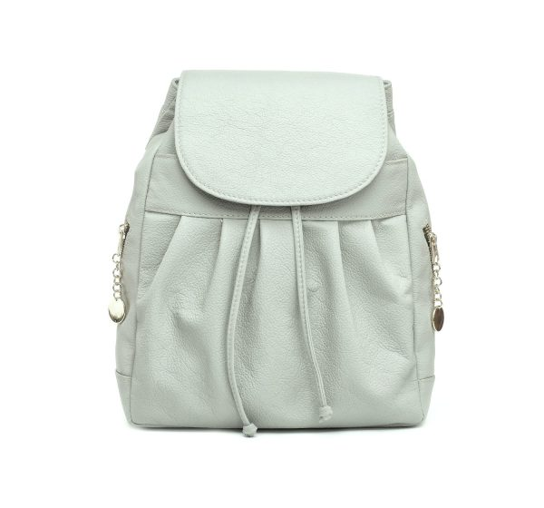 Dámsky kožený módny ruksak z prírodnej kože v šedej farbe (1)