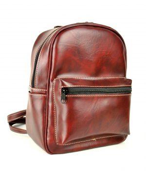 Luxusný praktický ruksak 8672k v bordovej farbe