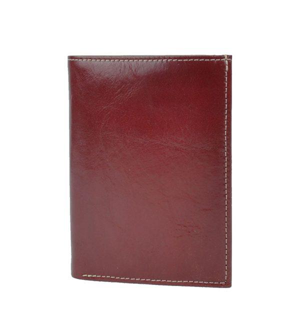 Luxusná kožená dokladovka č.8204 v červenej farbe