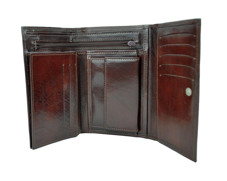 ec023aa40f Luxusná elegantná peňaženka z pravej kože č.8559 v tmavo hnedej farbe.  Luxusná ...