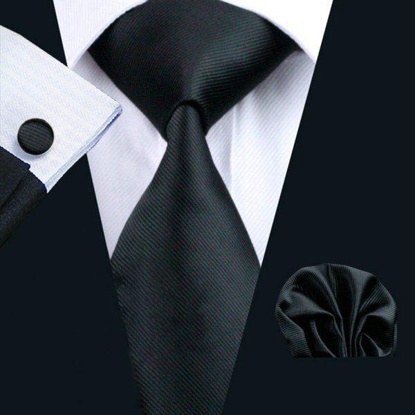 Elegantný kravatový set Bary - kravata + manžety + vreckovka , č.4