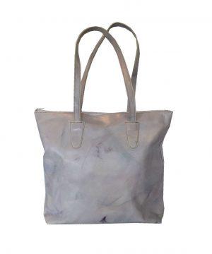 Exkluzívna ručne maľovaná kožená kabelka č.8637