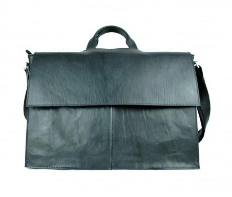 Luxusná exkluzívna kožená aktovka č.8369 v čiernej farbe