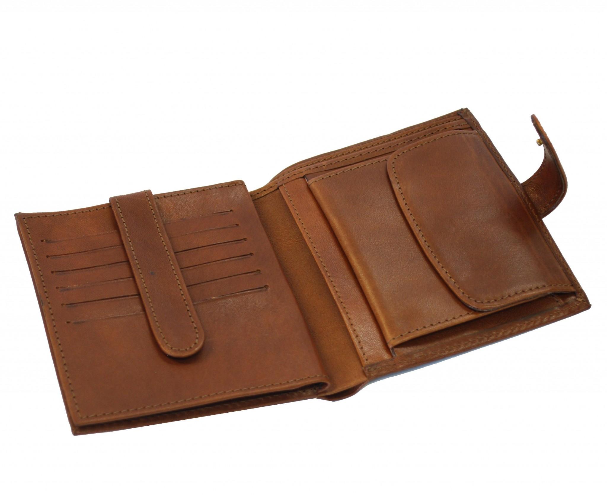 Luxusná exkluzívna kožená peňaženka č.8333 v hnedej farbe  d2f8e74caed