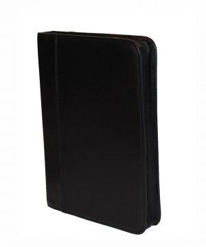 Luxusná exkluzívna kožená spisovka č.8162 v čiernej farbe