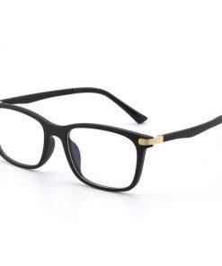 Flexibilné okuliare na prácu s počítačom s čierno-zlatým rámom