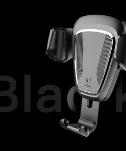Gravitačný držiak do ventilátora automobilu BASEUS v čiernej farbe