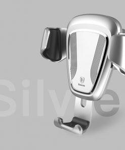 Gravitačný-držiak-do-ventilátora-automobilu-BASEUS-v-striebornej-farbe